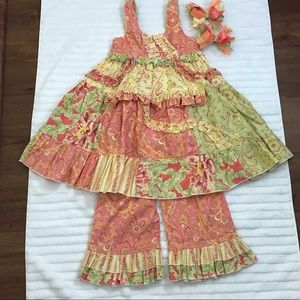Other - Paisley and floral swing dress sz 3T/4T